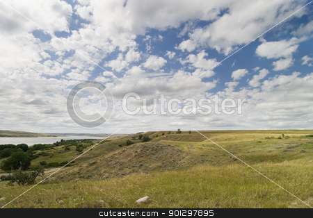 Diefenbaker Lake stock photo, Saskatchewan Landing, Diefenbaker Lake. by Tyler Olson
