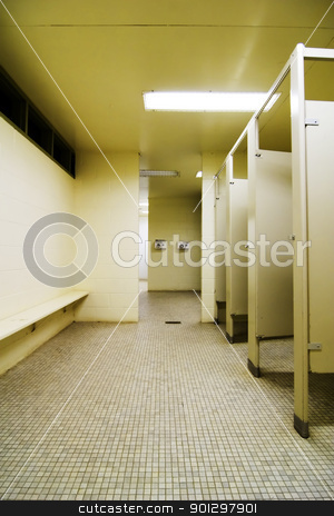 Change Area stock photo, Change area in a public washroom. by Tyler Olson