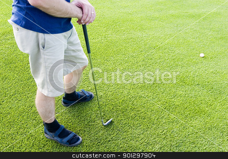 Abstract Golfer stock photo, Abstract of golfer on a golf course by Tyler Olson