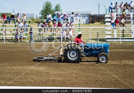 Preparing for the Rodeo stock photo, Preparing the ground at the Herbert Rodeo by Tyler Olson