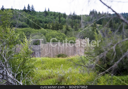 Mounted Police Fort stock photo, Fort at cypruss hills provincial park by Tyler Olson