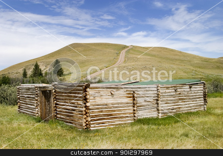 Trading Post stock photo, Trading post at the Cypress Hills Provincial Park by Tyler Olson