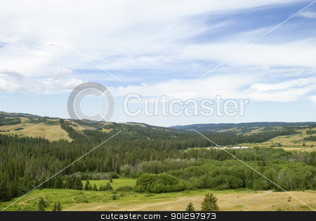 Cypress Hills Park stock photo, R.C.M.P fort at the Cypress Hills Provincial Park by Tyler Olson