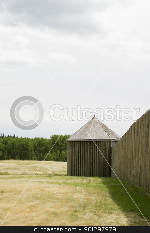 R.C.M.P. Fort stock photo, Fort at the Cypress Hills Provincial Park, Saskatchewan Canada by Tyler Olson