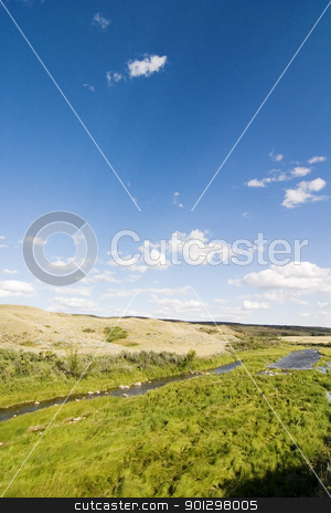Creek Hills stock photo, Swift Current Creek near Stewart Valley, in Saskatchewan, Canada by Tyler Olson