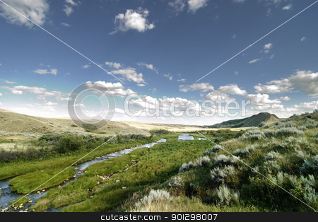 Creek Hills stock photo, Swift Current Creek near Stewart Valley, in Saskatchewan, Canada by Tyler Olson
