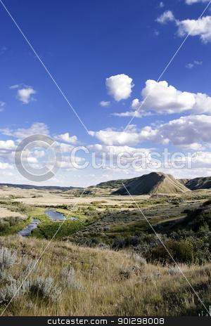 Creek Hills stock photo, Creek Hills on the Swift Current Creek, near Stewart Valley, Saskatchewan. by Tyler Olson