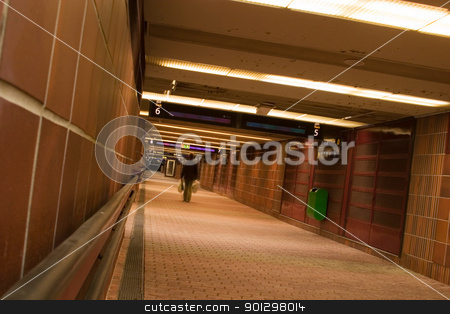 Abandoned Tunnel stock photo, Abandoned hallway in the Oslo Central Station, underground pathway to the train platforms. by Tyler Olson