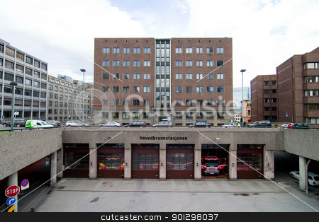 Fire Station, Oslo, Norway stock photo, Main fire department, Oslo, Norway by Tyler Olson