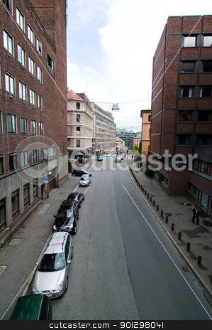 Oslo, Norway street. stock photo, A street in Oslo Norway, downtown by Tyler Olson