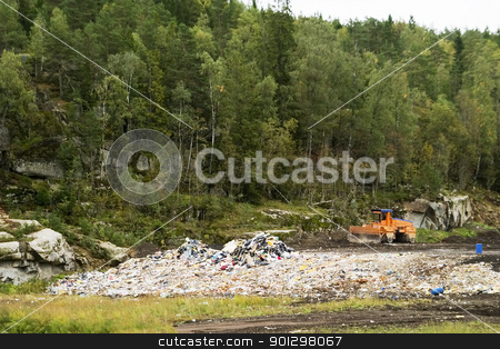Oslo Landfill stock photo, The garbage landfill near Oslo, Norway by Tyler Olson