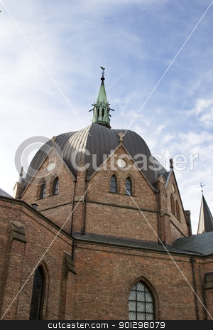 Trefoldighet Menighet stock photo, View of the Trefoldighet Menighet church in Oslo, Norway by Tyler Olson