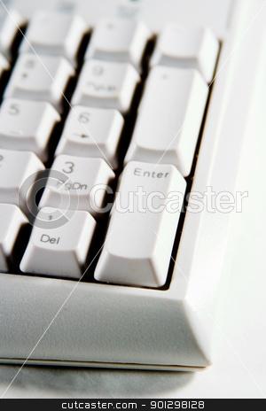 Desktop Keypad Enter Red stock photo, Desktop Computer Keyboard number pad. by Tyler Olson