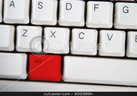 Red Alt stock photo, Isolated ALT on from a computer desktop keyboard highlighted in red by Tyler Olson
