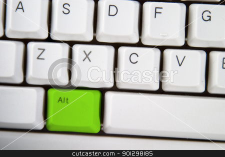 Green Alt stock photo, Isolated ALT on from a computer desktop keyboard highlighted in green by Tyler Olson