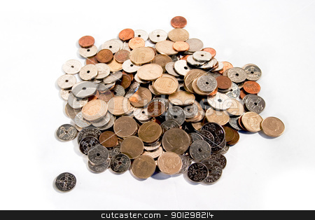 Pile of Coins stock photo, Pile of coins from Norway by Tyler Olson