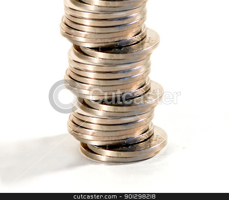 Stack of Coins stock photo, A stack of norwegian kroner by Tyler Olson