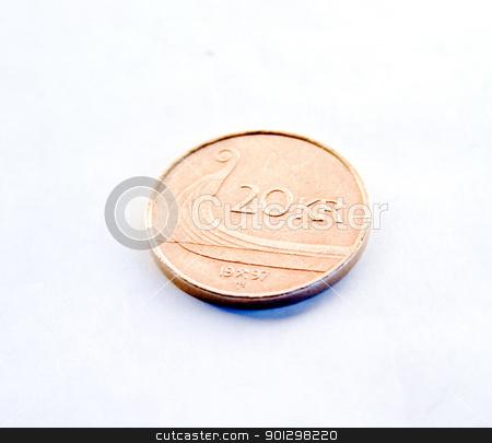 20 Norwegian Kroner stock photo, A single norwegian 20 kroner piece. by Tyler Olson