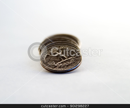 American Quarters Row stock photo, Row of american quarters. by Tyler Olson