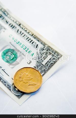 Canadian VS American Dollar stock photo, Canadian Dollar VS the American Dollar by Tyler Olson