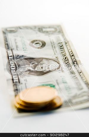 Canadian VS American Dollar stock photo, Canadian Dollar VS the American Dollar with the American dollar in focus. by Tyler Olson
