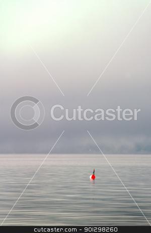 Buoy in the Fog stock photo, Buoy on a foggy ocean by Tyler Olson