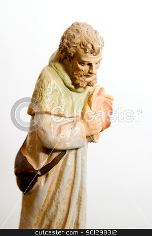 Shepherd Nativity Character stock photo, An antique shepherd nativity character. by Tyler Olson