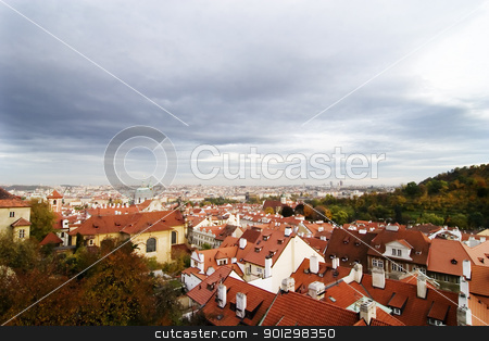 Prague Cityscape stock photo, Prague, Czech Republic cityscape seen from the Prague castle. by Tyler Olson