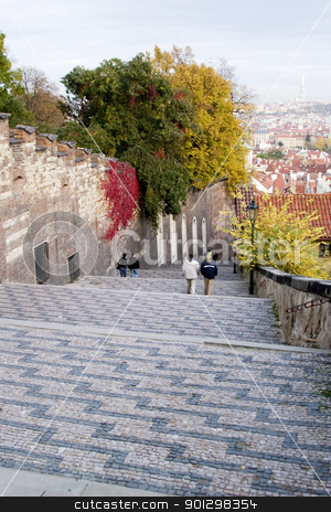 Prague Detail stock photo, Stairs leading up to the Prague Castle, Czech Republic by Tyler Olson