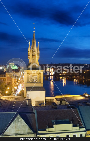 Night Cityscape - Prague stock photo, Night cityscape in Prague, Czech Republic. by Tyler Olson