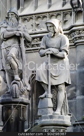 Sculpture Detail stock photo, A sculpture detail in the old town prague, Czech Republic. by Tyler Olson