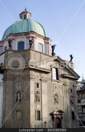 Stare Mesto Square stock photo, Old Church on the Stare Mesto square in Prague, Czech Republic by Tyler Olson