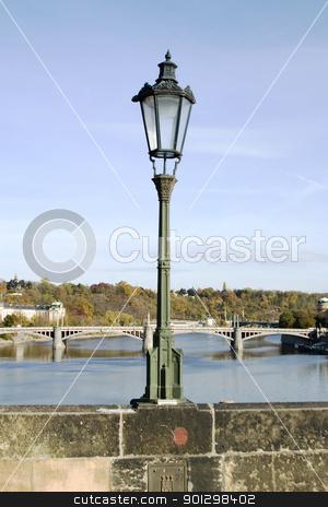 Lamp Post Detail - Prague stock photo, Charles Bridge lamp post detail, Prague, Czech Republic. by Tyler Olson