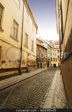 Quaint Street Prague stock photo, A quaint tiny alley (Seminarska) in Prague, Czech Republic by Tyler Olson