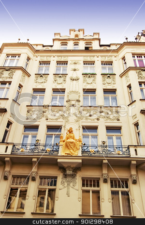 Prague Architecture stock photo, An old building in Prague, Czech Republic. by Tyler Olson