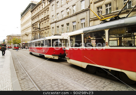 Prague Streetcar stock photo, Prague Streetcar detail, Czech Reublic by Tyler Olson