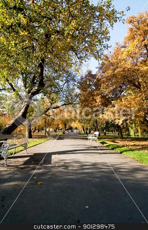 Vojanovy Sady Park stock photo, Vojanovy Sady park in Prague, Czech Republuc. by Tyler Olson