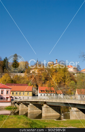 Europe in Autumn stock photo, A european city (Tabor, Czech) with warm autumn colors by Tyler Olson