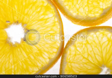 Orange Texture stock photo, Orange background texture image over white by Tyler Olson