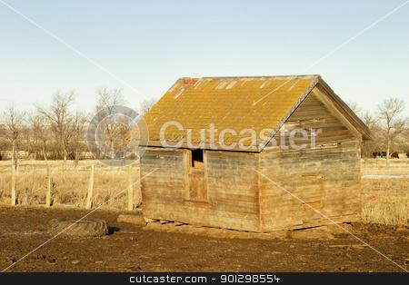 Wooden Garinery stock photo, An old wooden grainery on the Saskatchewan Prairie. by Tyler Olson