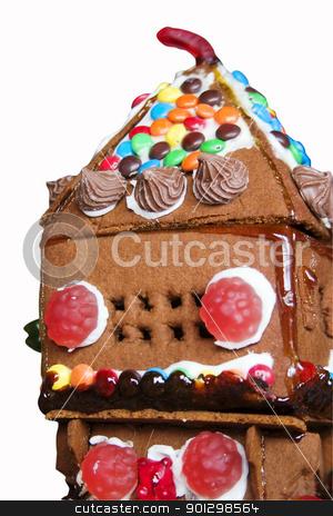 Ginger Bread House stock photo, Ginger bread house detail. by Tyler Olson