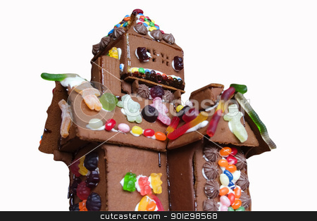 Ginger Bread House stock photo, Ginger bread house detail. by Tyler Olson