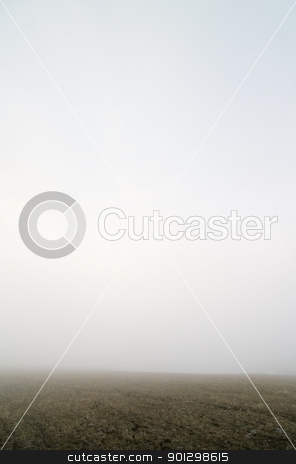 Prairie Fog stock photo, Prairie fog landscape by Tyler Olson