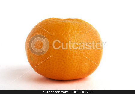 Christmas Orange stock photo, A christmas orange on a white background by Tyler Olson