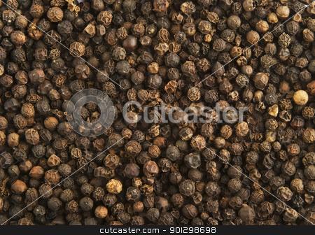 Pepper Background stock photo, Bulk black pepper background by Tyler Olson