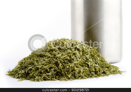 Bulk Parsley stock photo, Bulk dried parsley (Petroselinum crispum)  flakes by Tyler Olson