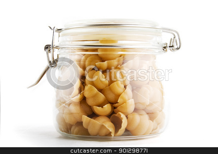 Sea Shell Pasta stock photo, Bulk Sea Shell Pasta by Tyler Olson