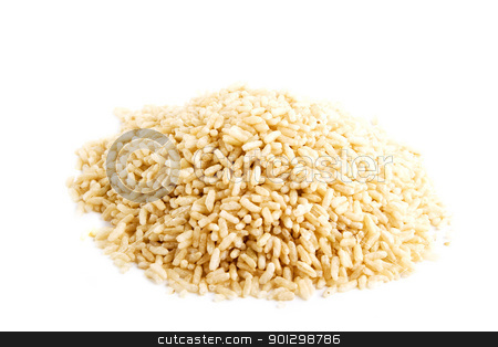 Whole Grain Instant Rice stock photo, Bulk whole grain instant cooking rice by Tyler Olson