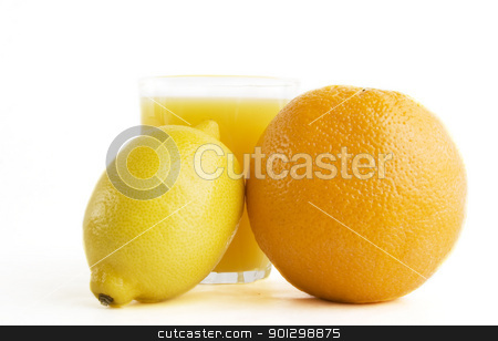 Fresh Juice stock photo, A freshly squeezed glass of citrus (orange and lemon) juice. by Tyler Olson