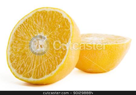 Fresh Cut Orange stock photo, A fresh orange sliced in half by Tyler Olson